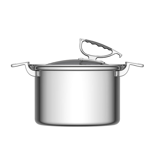 CookCraft by Candace 8 QT Stock Pot with Glass Latch Lid