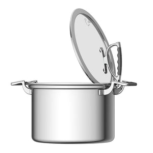 Cookcraft By Candace 8 Qt Stock Pot With Glass Latch Lid Cookcraftco Com