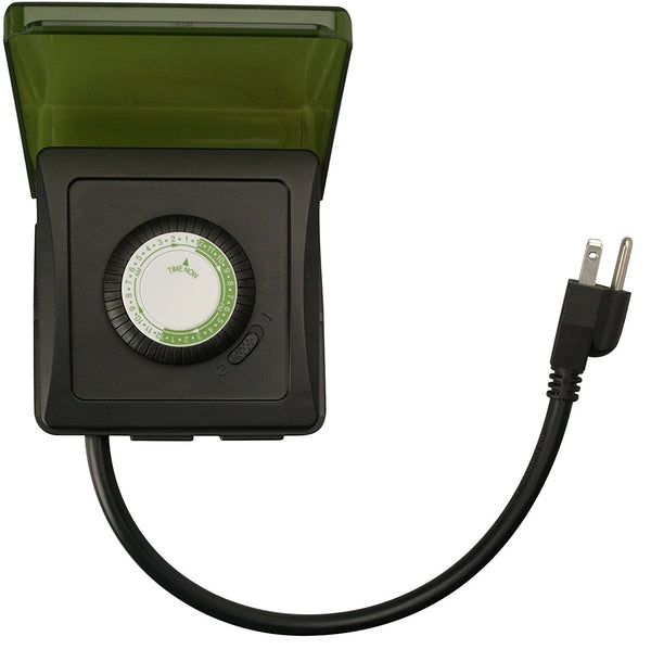 Heavy Duty Mechanical Plug-In Timer, 2 Grounded Outlets