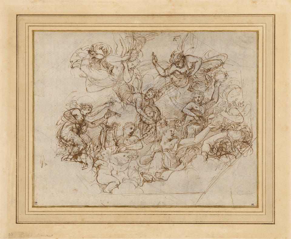 "Giulio Romano :An Allegory of the Virtues of Federico II Gon,16x12""(A3)Poster"