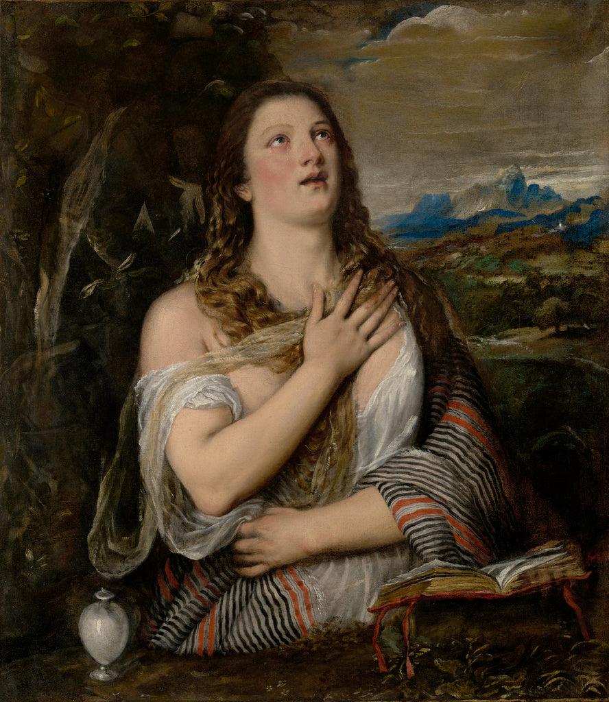 Titian :The Penitent Magdalene,16x12