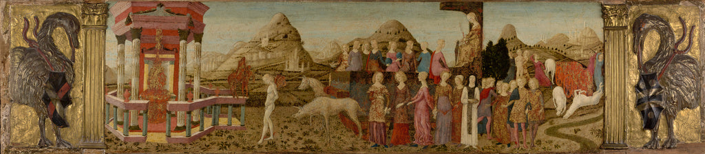 Francesco di Giorgio Martini , 1439 - 1501):Triumph of Chast,16x12