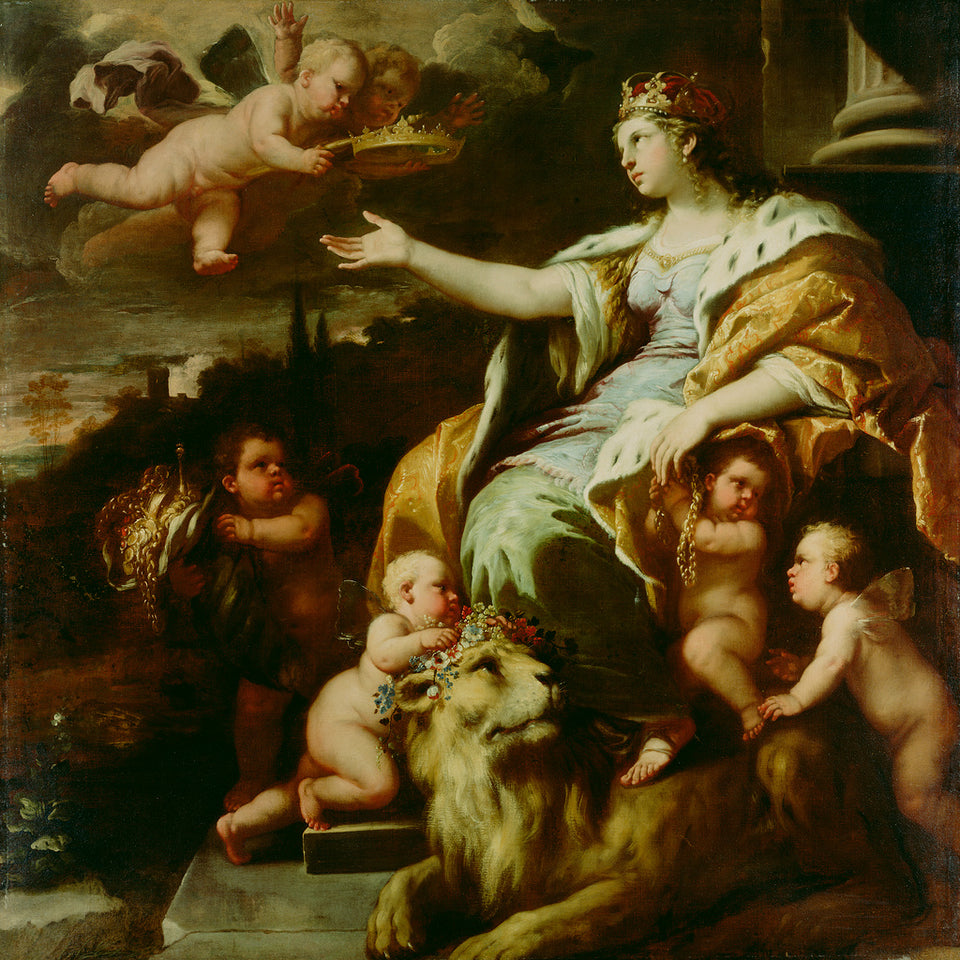 "Luca Giordano , 1634 - 1705):Allegory of Magnanimity,16x12""(A3)Poster"