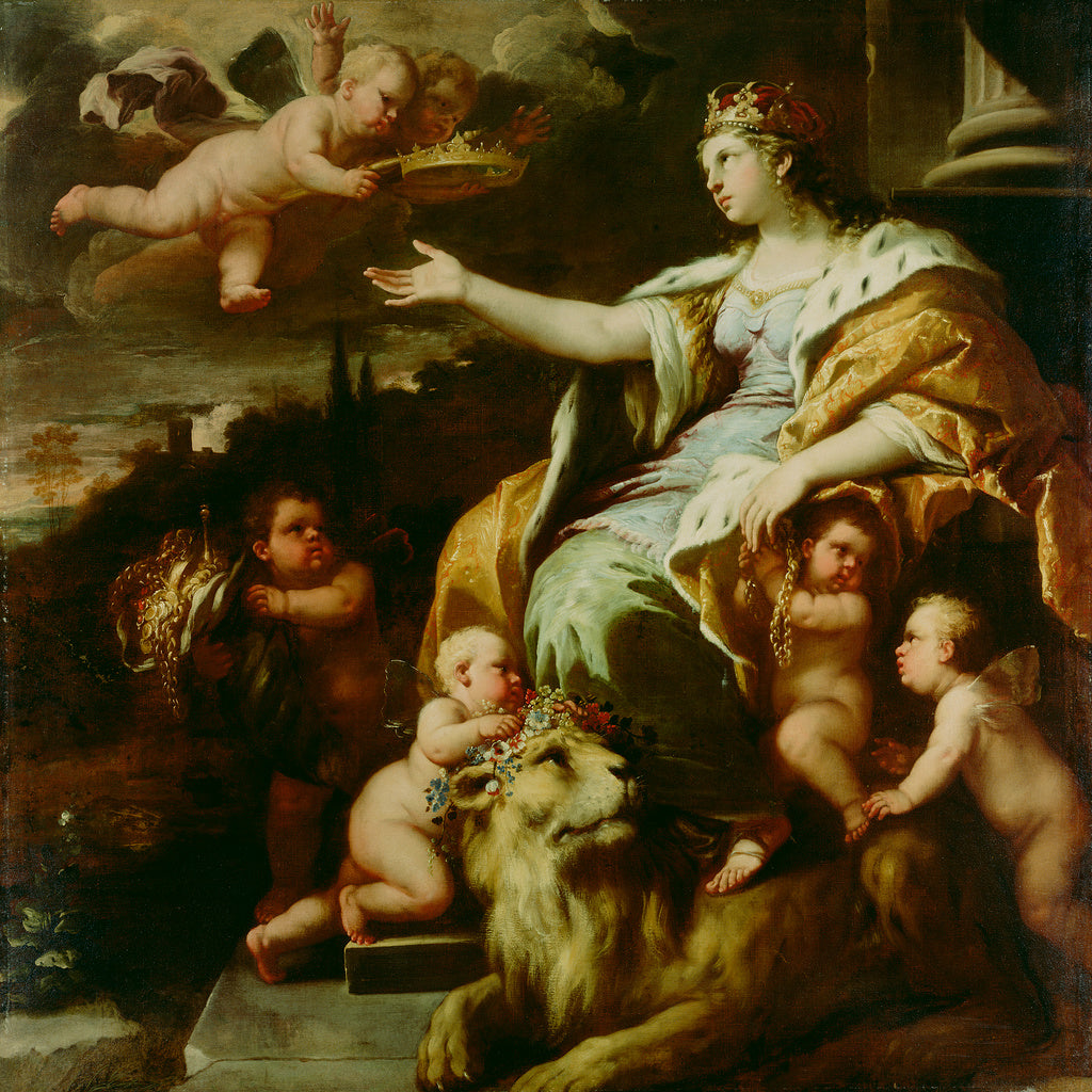 Luca Giordano , 1634 - 1705):Allegory of Magnanimity,16x12