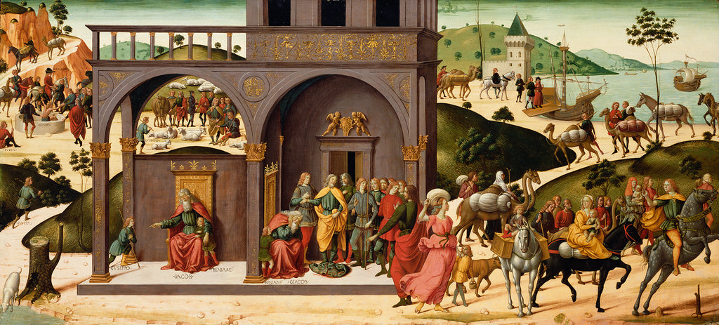 Biagio d'Antonio  1446 - after 1508):The Story of Joseph,16x12