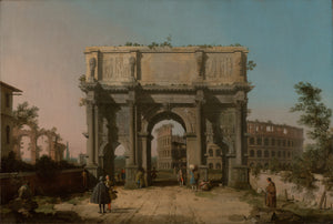 "Canaletto :View of the Arch of Constantine with the Colosseu,16x12""(A3)Poster"
