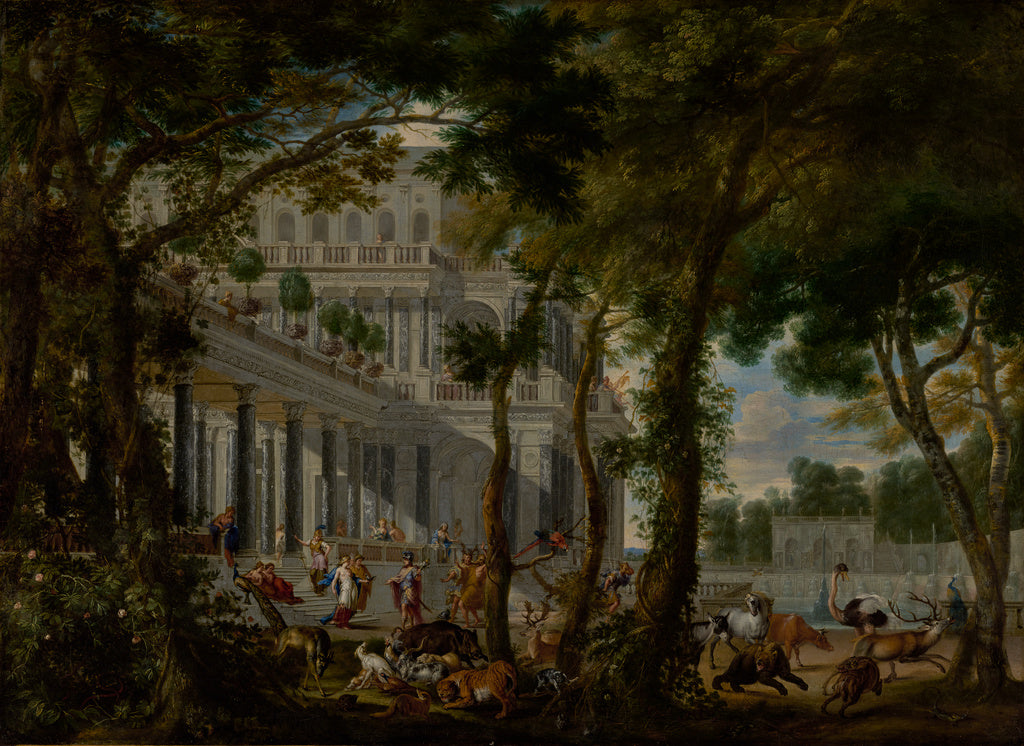 Wilhelm Schubert van Ehrenberg:Ulysses at the Palace of Circ,16x12