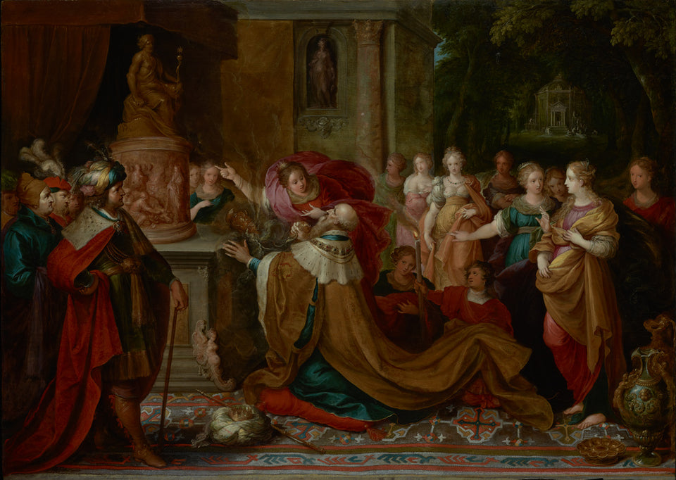 "Frans Francken the Younger:The Idolatry of Solomon,16x12""(A3)Poster"