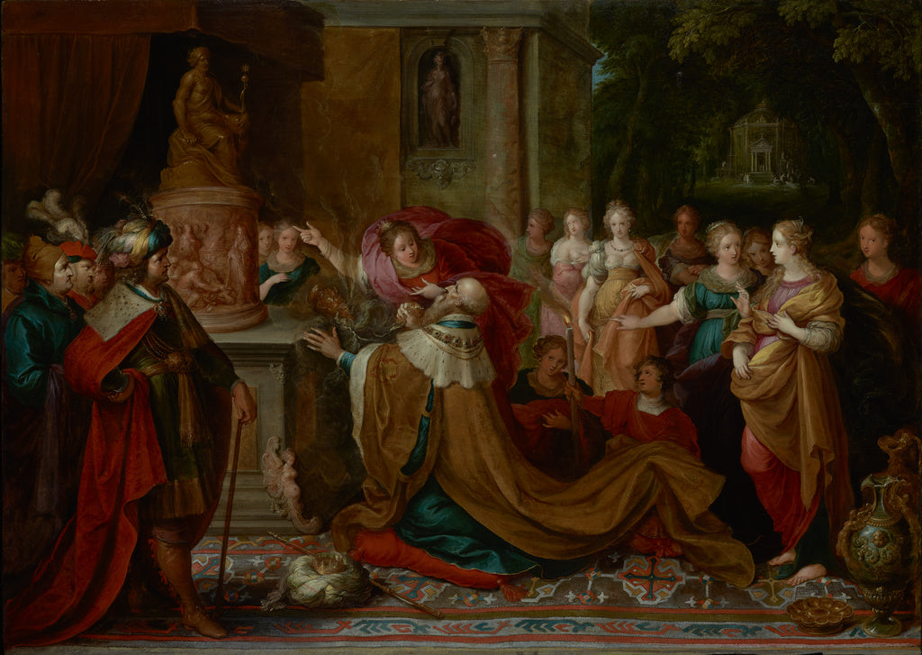 Frans Francken the Younger:The Idolatry of Solomon,16x12