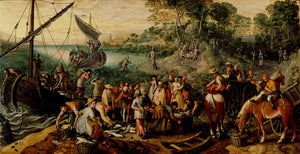 "Joachim Beuckelaer:The Miraculous Draught of Fishes,16x12""(A3)Poster"