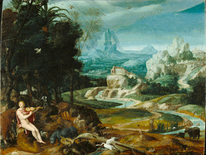 "Unknown maker, Flemish, 16th century:Landscape with Orpheus,16x12""(A3)Poster"