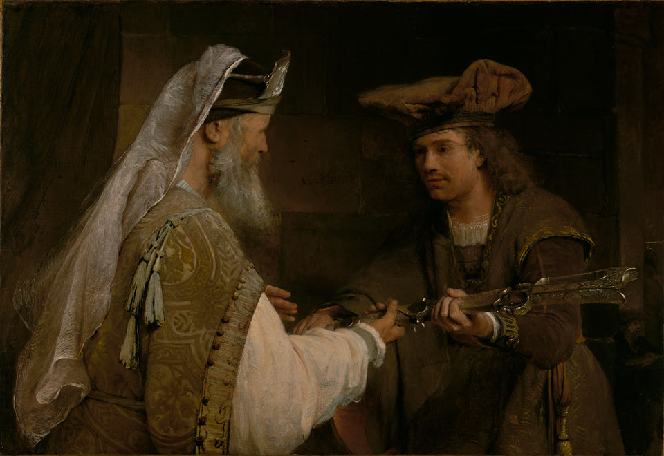 "Aert de Gelder:Ahimelech Giving the Sword of Goliath to Davi,16x12""(A3)Poster"