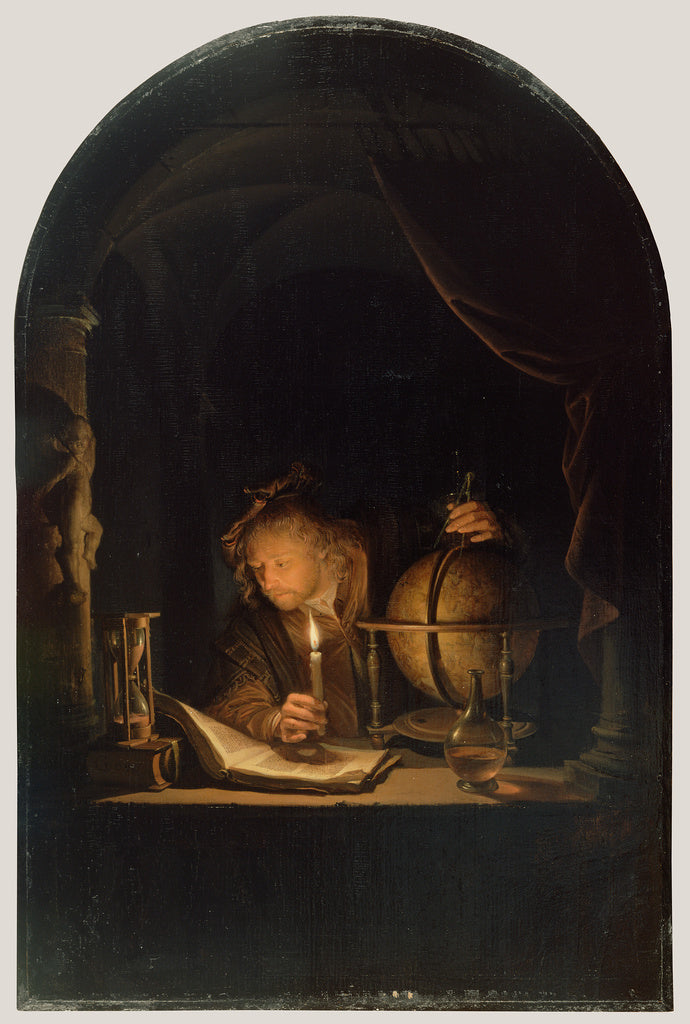 Gerrit Dou:Astronomer by Candlelight,16x12