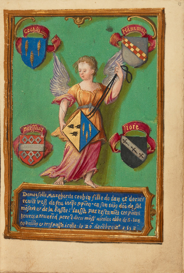 "Unknown:Arms of Marguerite Crohin,16x12""(A3)Poster"