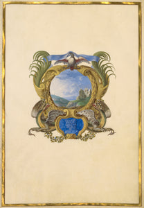 "Jacques Bailly:Emblem for Louis XIV (Fol. 9),16x12""(A3)Poster"