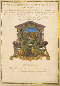 "Jacques Bailly:Emblem for Louis XIV (fol. 5),16x12""(A3)Poster"