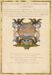 "Jacques Bailly:Emblem for Louis XIV (fol. 22),16x12""(A3)Poster"