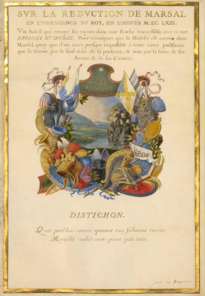 Jacques Bailly:Emblem for Louis XIV (fol. 3),16x12