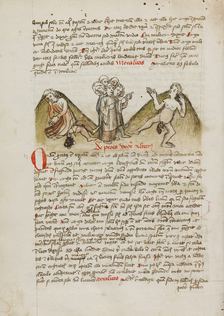 Unknown:A Woman and a Nude Man and a Cleric Speaking to the ,16x12