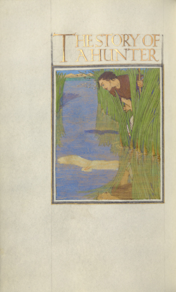 Florence Kingsford Cockerell:A Hunter Standing in Reeds and ,16x12