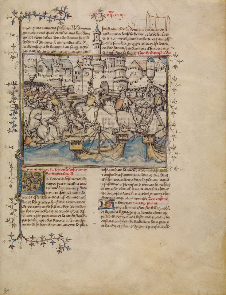 "First Master of the Bible historiale of Jean de Berry:A Batt,16x12""(A3)Poster"