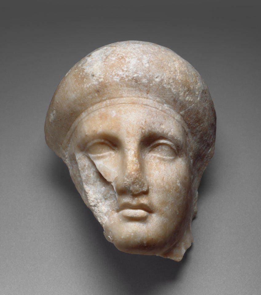 "Unknown:Head of a Female Attendant from a Grave Naiskos,16x12""(A3)Poster"