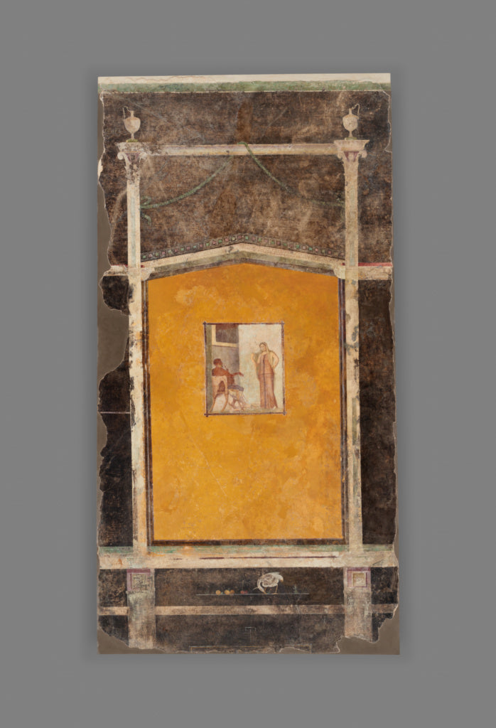 Unknown:Wall Panel from a Black Ground Frescoed Room,16x12