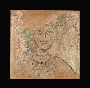 "Unknown:Fragment of a Mosaic Floor with Head of a Season,16x12""(A3)Poster"