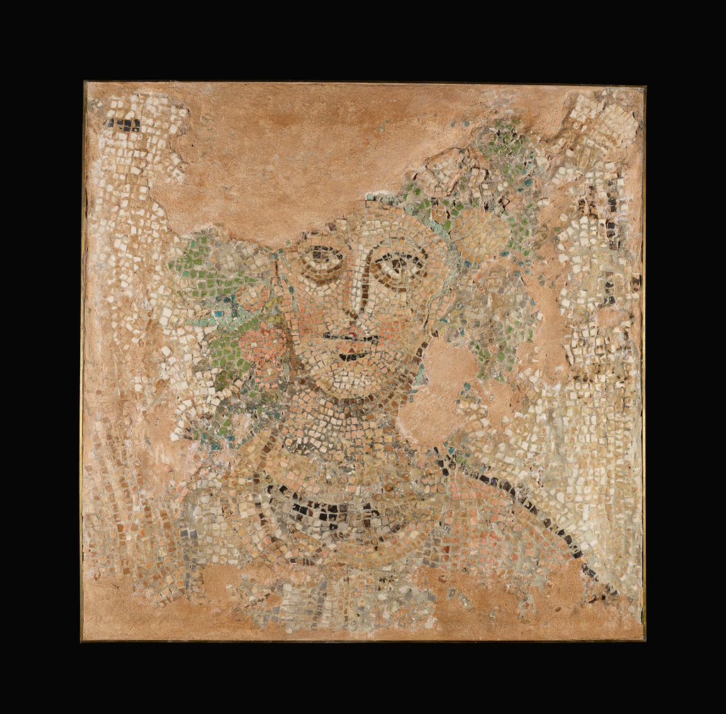 Unknown:Fragment of a Mosaic Floor with Head of a Season,16x12