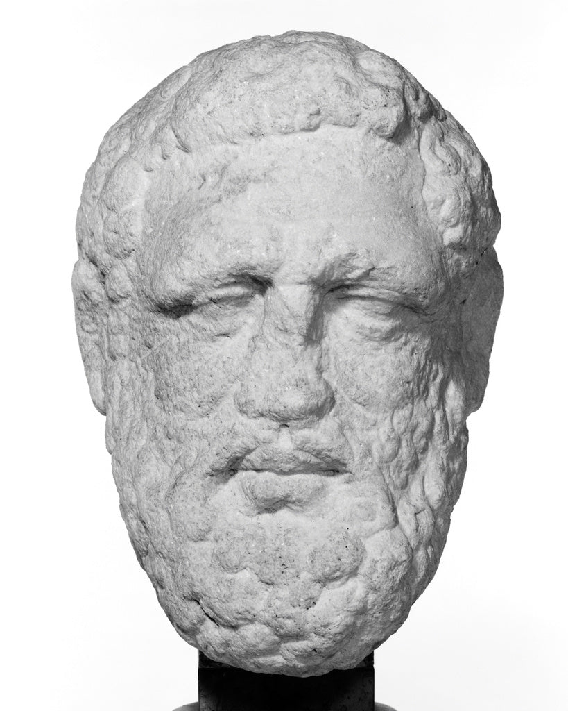 Unknown:Unfinished Head of Bearded Herakles,16x12