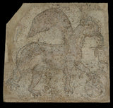 "Unknown:Fragmentary Mosaic of a Griffin with Spoked Wheel (N,16x12""(A3)Poster"