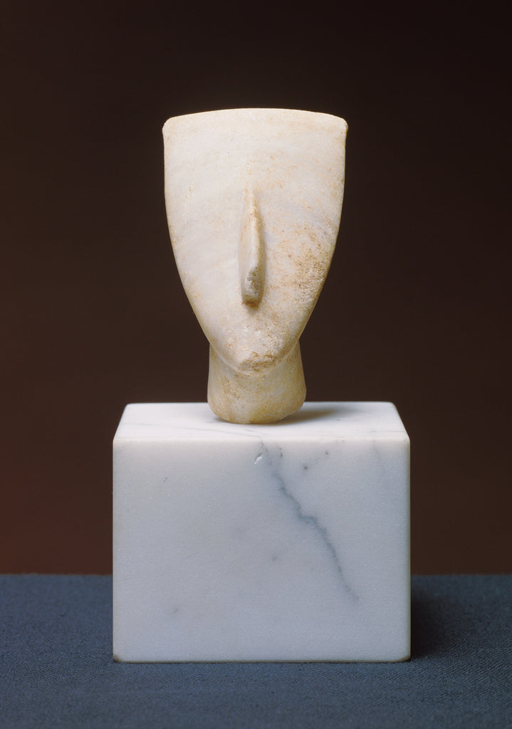 Unknown:Head Fragment from a Cycladic Figure (Dokathismata V,16x12