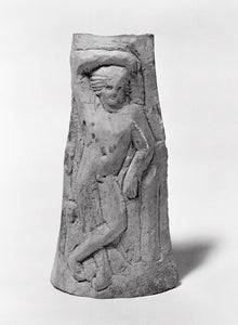 "Unknown:Relief Carving of a Nude God, perhaps Bacchus,16x12""(A3)Poster"