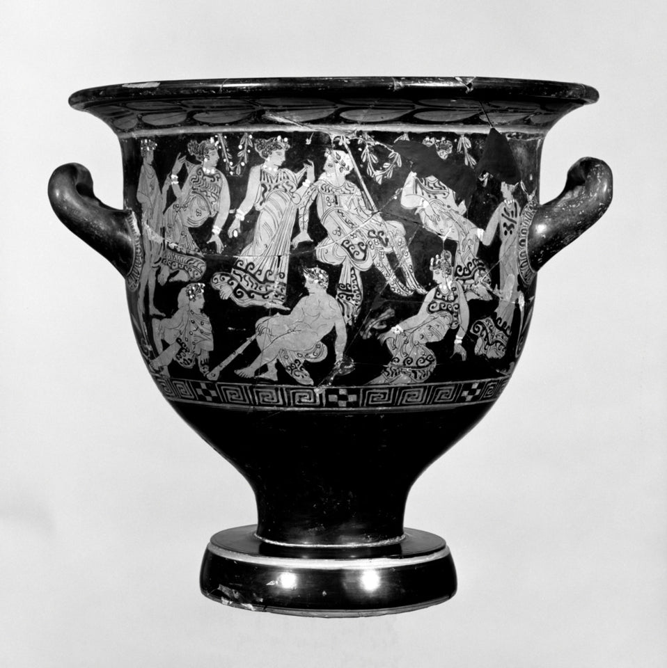 "Unknown:Attic Red-Figure Bell Krater,16x12""(A3)Poster"