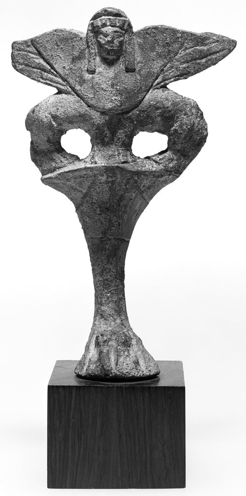 Unknown:Foot of a Vase in the Form of a Double-Bodied Sphinx,16x12
