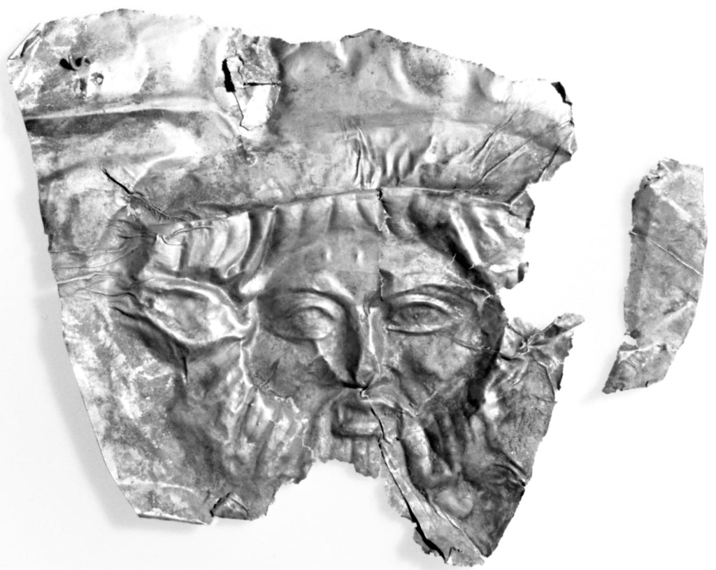 Unknown:Plaque with Relief Head of Achelous,16x12