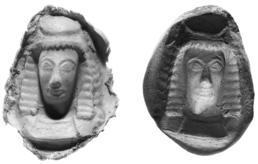 Unknown:Mold for the Front half of a Daedalic Female Head,16x12