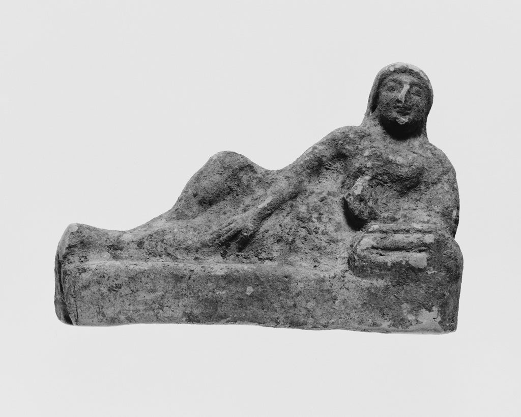 Unknown:Figure of a Reclining Banqueter,16x12