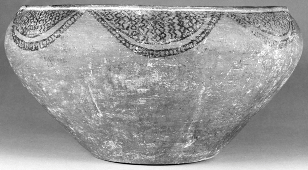 "Unknown:Bowl with Geometric Decoration,16x12""(A3)Poster"