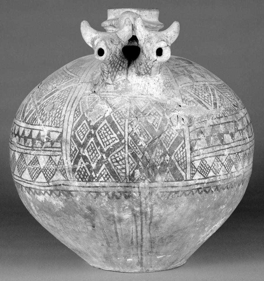 "Unknown:Anatolian Ceramic Vase with Geometric Decoration,16x12""(A3)Poster"