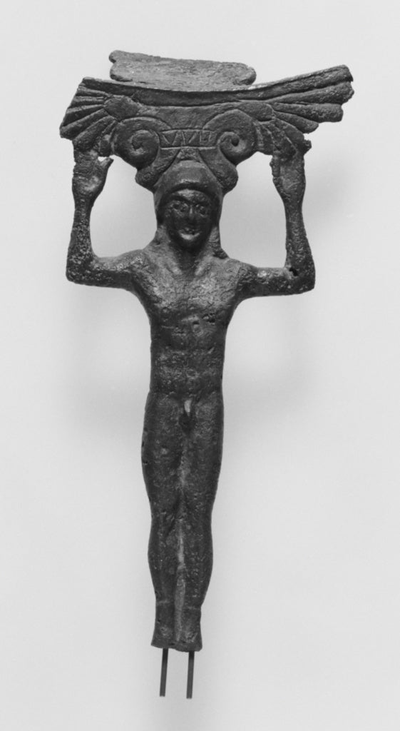 Unknown:Patera Handle in Kouros Form,16x12