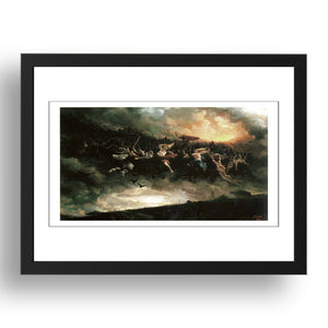 Michelangelo - The Last Judgment [1541], A4 size (8.27 × 11.69 inches) Poster