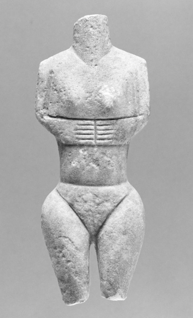 Unknown:Fragment of a Cycladic Figure (Plastiras Type),16x12