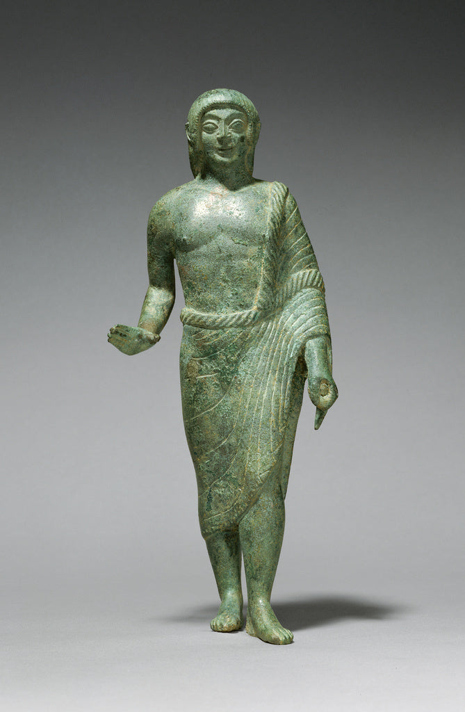 Unknown:Statuette of a Kouros,16x12