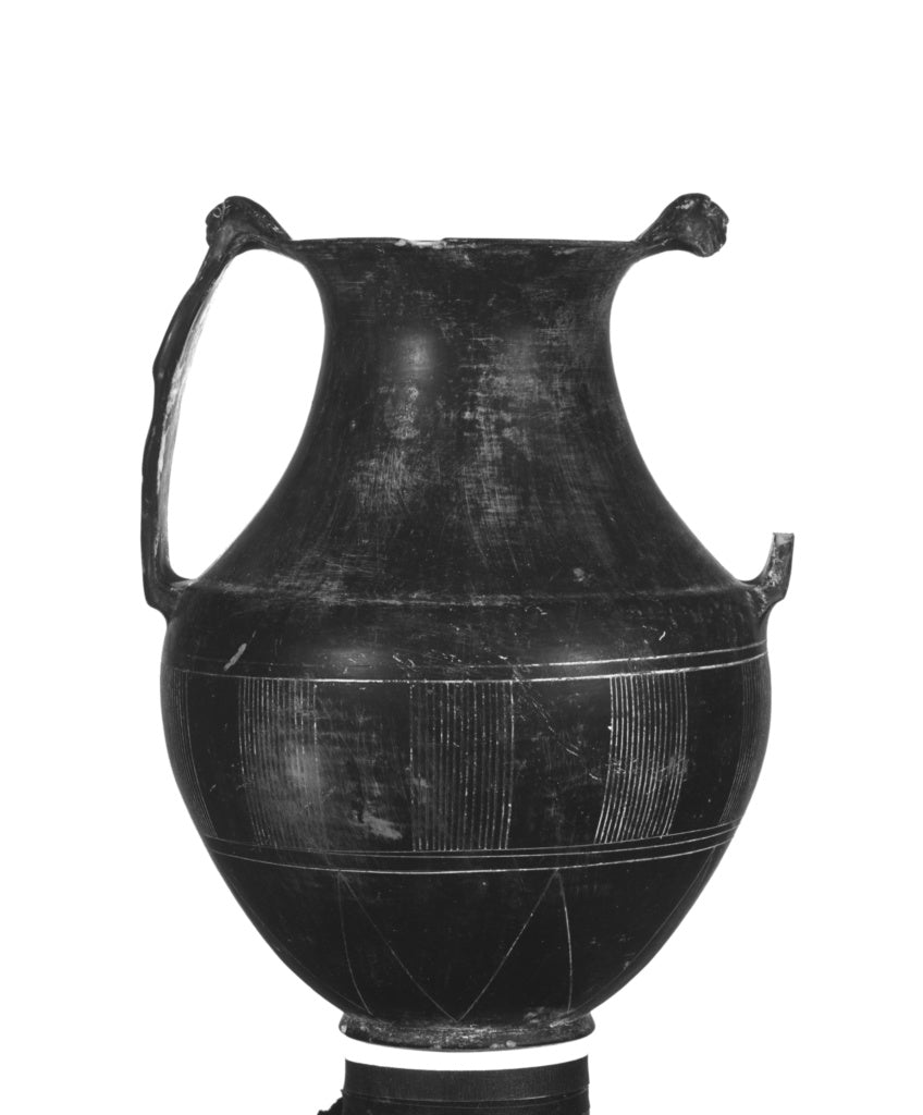 Unknown:Imitation of an Etruscan Bucchero Amphora with One U,16x12