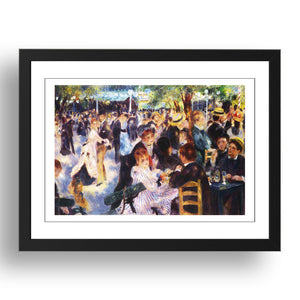 P Renoir - Dance At Le Moulin de la Galette [1876], A4 size (8.27 × 11.69 inches) Poster
