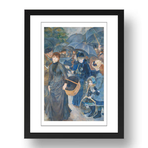 Pierre-Auguste Renoir - The Umbrellas (c. 1881-86), A4 size (8.27 × 11.69 inches) Poster