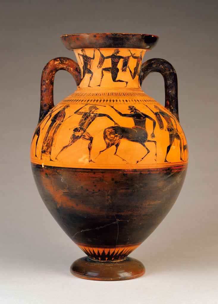 AffecterAttributed to:Attic Black-Figure Neck Amphora,16x12