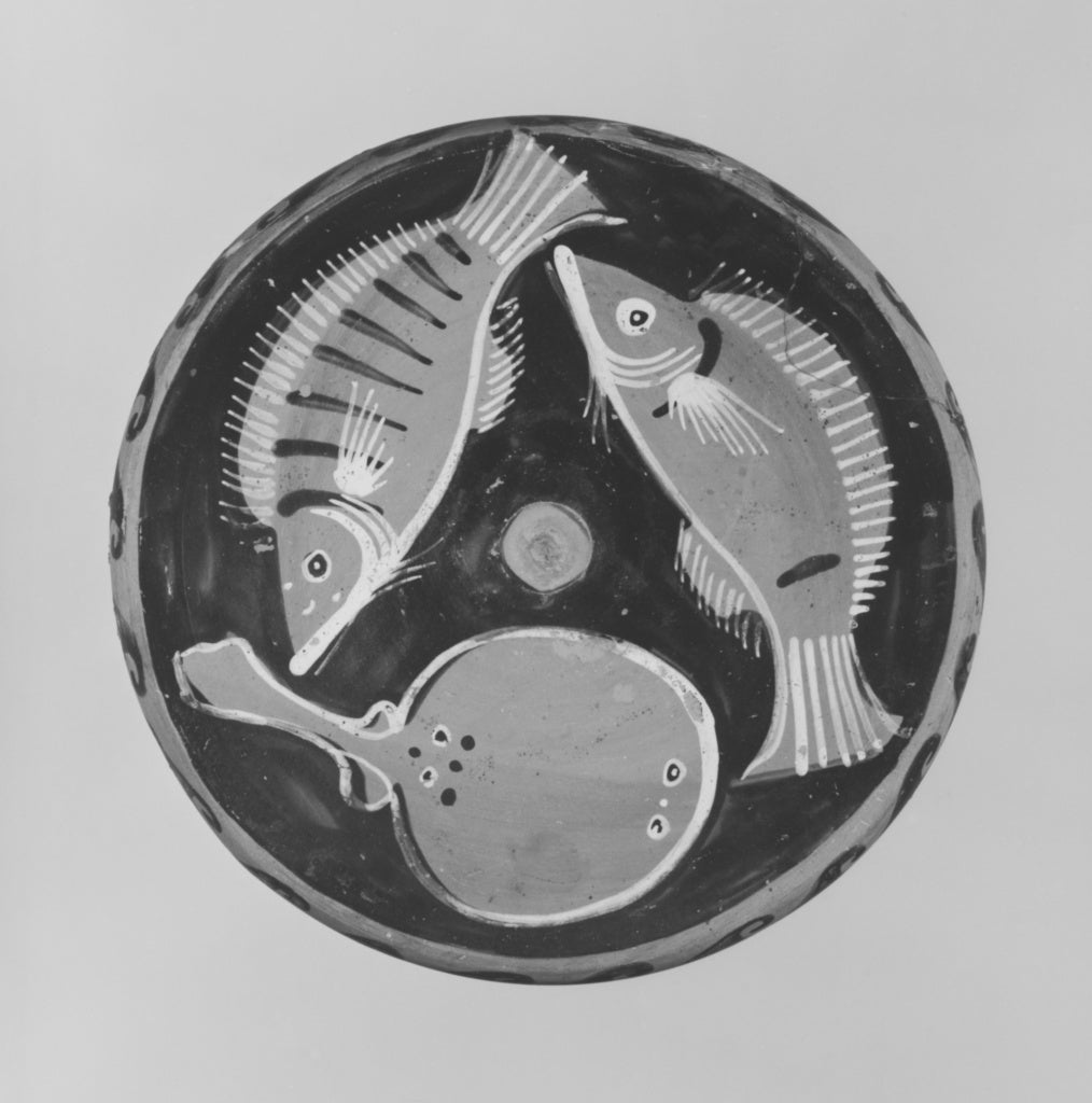 Robinson Group:Campanian Red-Figure Fish Plate,16x12