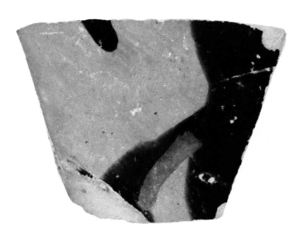 Unknown:Attic Black-Figure Cup Fragment,16x12